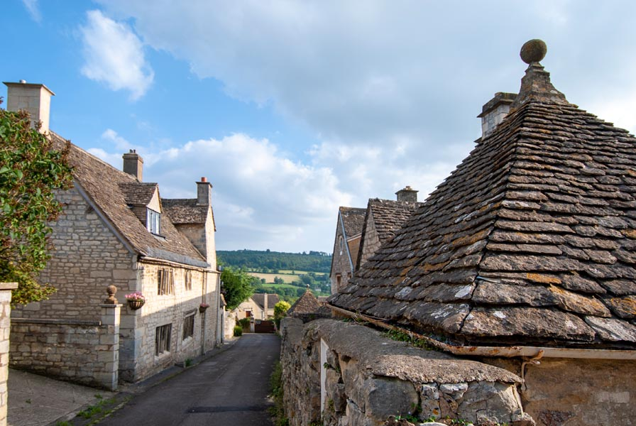 Roofs in a Cotswold village