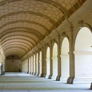 The arches at Musee des Beaux Arts in Lyon in France