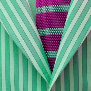Striped jacket and striped tie